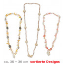 Chain shells,  assorted styles, 30 + 36 cm