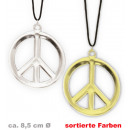 wholesale Jewelry & Watches: Chain Peace, gold  + silver, assorted colors