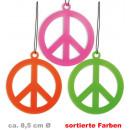 Großhandel Schmuck & Uhren: Kette Peace, neon, sortierte Farben