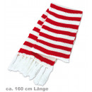 wholesale Scarves & Shawls: Knitted Scarf red  and white, 160 cm length