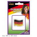 grossiste Gadgets et souvenirs: Glimmer Tattoo FAN drapeau, 3 x 2 cm