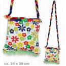 Großhandel Handtaschen: Tasche Hippie,  Blumen, ca. 20 x 20 cm