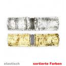 grossiste Articles de fête: ceinture  Silvester, or + argent par élastique