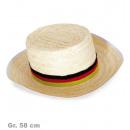 wholesale Headgear:Straw FAN, Gr. 58 cm