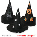 Witch hat,  assorted motifs, Gr. 58 cm