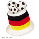 grossiste Gadgets et souvenirs: FAN Chapeau avec  des ballons de football, Gr. 58 c