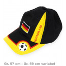 Großhandel Kopfbedeckung: Basecap FAN, Gr.  55 cm - Gr. 60 cm variabel