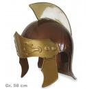 Roman helmet, visor movable