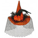 wholesale Hair Accessories: Fascinator witch  hat with hair clip, orange with k
