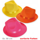 grossiste Articles de fête: NEON Chapeau,  couleurs assorties, Gr. 58 cm