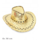 groothandel Stationery & Gifts: Party cowboyhoed, goud, Gr. 58 cm