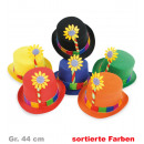 grossiste Cadeaux et papeterie: Chapeaux à fleurs,  couleurs assorties, Gr. 44 cm