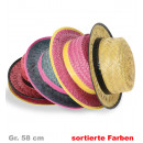 wholesale Headgear: Straw hat,  assorted colors, Gr. 58 cm