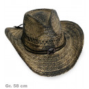 grossiste Jouets: Chapeau de cow-boy  paille DeLuxe, Gr. 58 cm