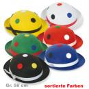 Clown hat,  assorted colors, Gr. 58 cm