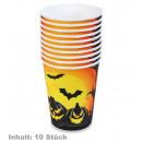 Großhandel Geschenkartikel & Papeterie: Becher Halloween, Inhalt: 10 Stück