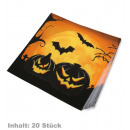 wholesale Household Goods: Napkins Halloween, Content: 20 pieces