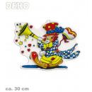 grossiste Articles de fête: Wall Art Clown  avec trompette, environ 30 cm de ha