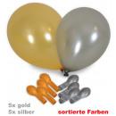 mayorista Regalos y papeleria: Globos del  partido, oro + plata clasificado