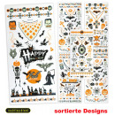 Großhandel Dekoration: Tattoos Halloween,  nachtleuchtend, sortierte Motiv