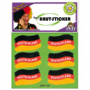 grossiste Bricoler et dessiner: Sticker peau FAN,  6 autocollants par carte