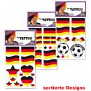 Großhandel Piercing / Tattoo: Tattoos FAN, verschiedene Motive