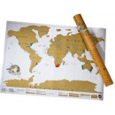 wholesale Parlor Games: Scratchy world map, travel premium