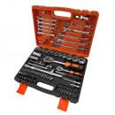 grossiste Mallettes, boites à outils et kits: Jeu de 82 vis, embouts et clés à douille