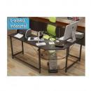 grossiste Fournitures de bureau equipement magasin: Table d'angle informatique - noir