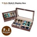 elegante Uhren- und Glashalterbox 9-tlg