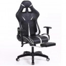 wholesale furniture: Sintact Gamer chair with white and black footrest