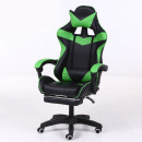 wholesale furniture: RACING PRO X Gamer chair with footrest, green-blac