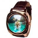 groothandel GSM, Smartphones & accessoires: X3S gouden smartwatch, smartwatch,
