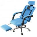 mayorista Mobiliario de oficina: Silla giratoria presidencial con reposapiés, azul