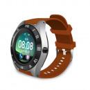 M11 Smartwatch mit braunem Armband