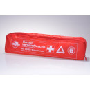 First aid kit with warning triangle red DIN 13164