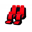 Car Seat Covers  Set, 11-piece, red-black