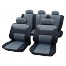Universal fabric  seat cover in leather optics  Des