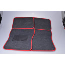 Car carpet set 4-piece red