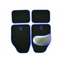 wholesale Car accessories: Car Carpet Set Alu-Look-pad 4-piece, blue umrand