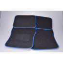 Car carpet set 4-piece blue