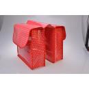 groothandel Sport & Vrije Tijd: Bicycle Double  Bag, rood met witte stippen