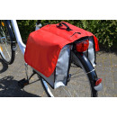 Bicycle double bag Tarpaulin red
