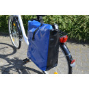 Pannier of tarpaulin (tarpaulin), blue / black