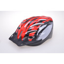 Helmet for cyclists red-silver 55-59 cm head circu