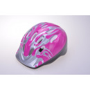 Kids helmet for cyclists, silver / pink 52-56 cm K