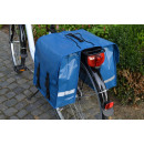 Bicycle double bag made of tarpaulin