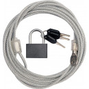 wholesale Garden & DIY store: Multi-purpose steel cable 4/3000 with padlock
