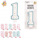 giant birthday candle, 10-times assorted