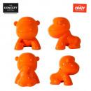 Großhandel Figuren & Skulpturen: Skulptur verrückt  Gorilla Orange gm, 1-Zeit sortie
